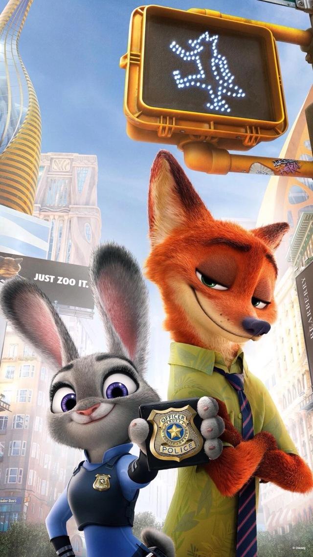 《疯狂动物城》中,兔子朱迪如愿以偿当上警察