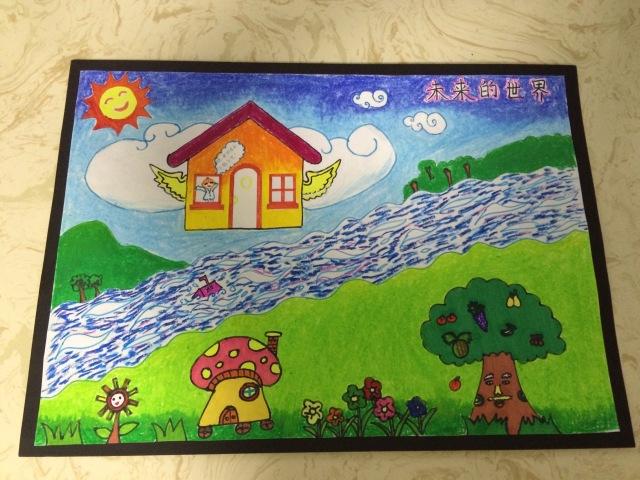 以上两幅绘画作品均来自内蒙古乌海市海勃湾区第五小学一年级五班霍晟